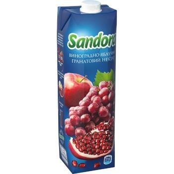 Нектар Sandora виноградно-яблочно-гранатовый 0,95л - купить, цены на Метро - фото 1
