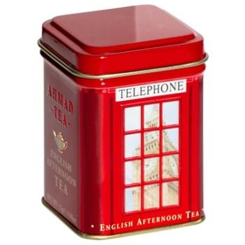 Чай черный Ahmad English Afternoon рассыпной ж/б 25г Телефонная будка