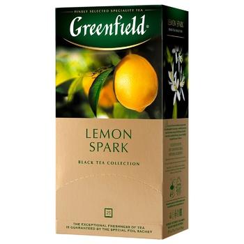 Чай чорний Greenfield Lemon Spark 1,5г х 25шт