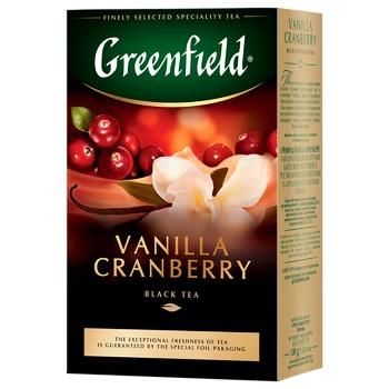 Greenfield Vanilla Cranberry Black Tea 100g - buy, prices for Vostorg - photo 1