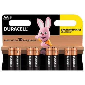 Батарейки Duracell AA лужні 8шт