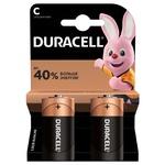 Батарейки Duracell C щелочные 2шт