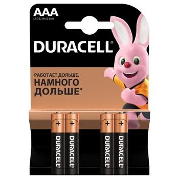 Батарейки Duracell AAA щелочные 4шт - купить, цены на ЕКО Маркет - фото 1
