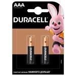 Батарейки Duracell AAA щелочные 2шт - купить, цены на Ашан - фото 1