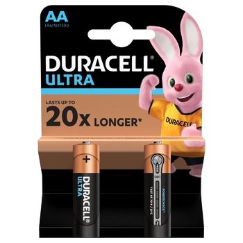 Батарейки Duracell Ultra Power AA лужні 2шт