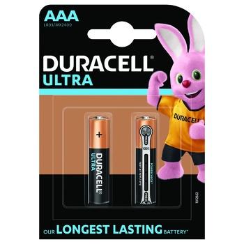 Батарейки Duracell Ultra Power AAA лужні 2шт