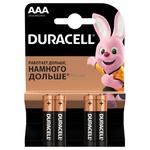 Батарейки Duracell AAA 4шт