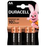 Батарейки Duracell АА щелочные 4шт