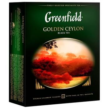Чай черный Greenfield Golden Ceylon 2г 100шт - купить, цены на Ашан - фото 4