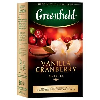 Greenfield Vanilla Cranberry Black Tea 100g - buy, prices for Auchan - photo 2