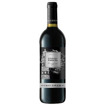 Вино Inkerman Крымская Ривьера красное полусладкое 13% 0.75л - купить, цены на СитиМаркет - фото 1
