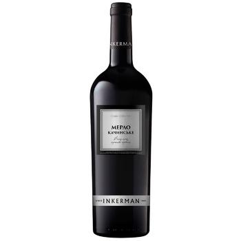Inkerman Merlot Kachynske Red Dry Wine 14% 0.75l - buy, prices for CityMarket - photo 1