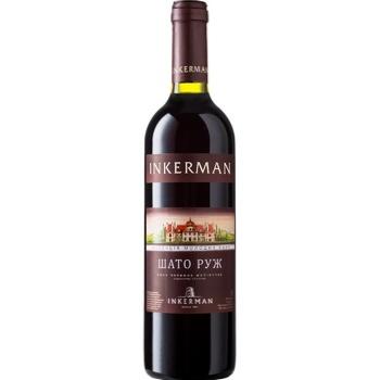 Вино Inkerman Колекція молодих вин Шато Руж червоне напівсухе 0,7л - купити, ціни на CітіМаркет - фото 1