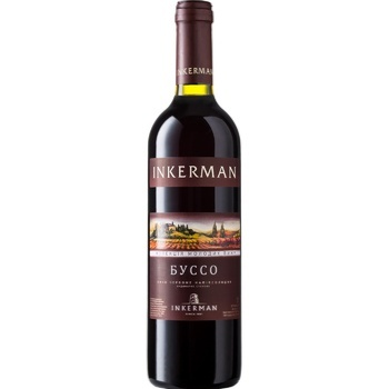 Вино Inkerman Буссо червоне напівсолодке 0,7л - купити, ціни на CітіМаркет - фото 1
