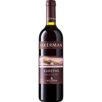 Вино Inkerman Каберне Сортове червоне сухе 13% 0,75л - купити, ціни на Ашан - фото 1