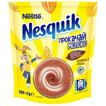 Какао-напиток NESTLÉ® NESQUIK® OPTI-START быстрорастворимый 380г - купить, цены на Varus - фото 1