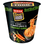 Вермішель МІВІНА® Street Food в соусі зі смаком сезаму та смаженої курки гостра 75г