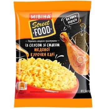 Вермишель MIVINA® Street Food с соусом со вкусом медовой курочки карри быстрого приготовления 81,5 г