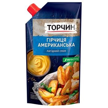 Горчица ТОРЧИН® Американская мягкий вкус 130г - купить, цены на Метро - фото 1