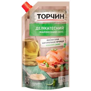 Майонезный соус ТОРЧИН® Деликатесный 300г - купить, цены на Ашан - фото 1