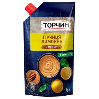 Горчица ТОРЧИН® Лимонная с медом 115г - купить, цены на Ашан - фото 1