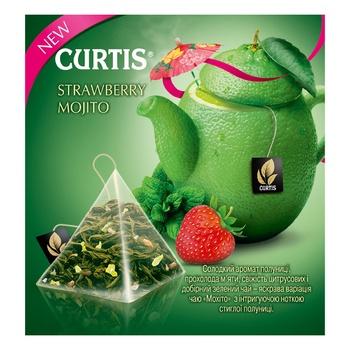 Чай зеленый Curtis Клубничный Мохито в пакетиках 20шт*1,7г - купить, цены на Ашан - фото 3