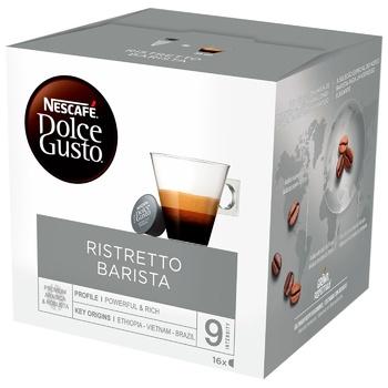 Кофе NESCAFÉ® DOLCE GUSTO® Ristretto Barista в капсулах 16шт 112г - купить, цены на Ашан - фото 1