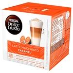 NESCAFÉ® DOLCE GUSTO® Caramel Latte Macchiato coffee in capsules 16pcs 145,6g