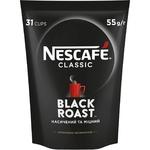 Кава NESCAFÉ® Classic Black Roast розчинна гранульована 55г