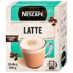 Напій NESCAFÉ® Latte з додаванням кави розчинний стік 20*16г