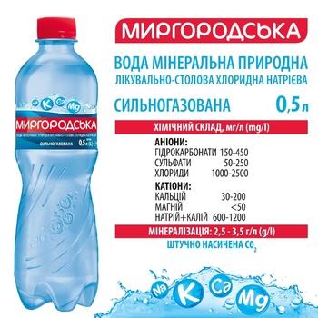 Мінеральна вода Миргородська природна сильногазована 0,5л - купити, ціни на ЕКО Маркет - фото 2