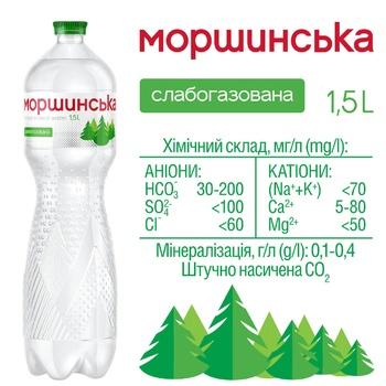 Минеральная вода Моршинская природная слабогазированная 1,5л - купить, цены на СитиМаркет - фото 3
