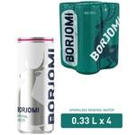 Вода мінеральна Borjomi сильногазована з/б 4шт 0,33л