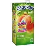 Sadochok Juice peach with pulp sterilized 1l