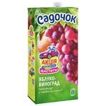 Нектар Садочок яблочно-виноградный из красных сортов 1,93л