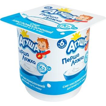 Сир кисломолочний Агуша класичний 4,5% 100г