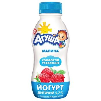 Йогурт Агуша питьевой малина 2,7% 200г - купить, цены на СитиМаркет - фото 1