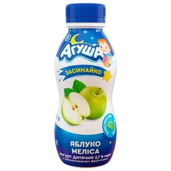Йогурт Агуша Засинайко яблуко-меліса для дітей з 8 місяців 2,7% 200г - купити, ціни на ЕКО Маркет - фото 1