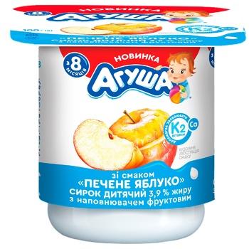 Творожок Агуша печеное яблоко для детей с 8 месяцев 3,9% 100г