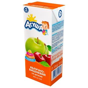 Сок Агуша яблочно-вишневый для детей с 5 месяцев 200мл