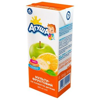 Agusha for children from 6 months multifruit juice 200ml - buy, prices for CityMarket - photo 1