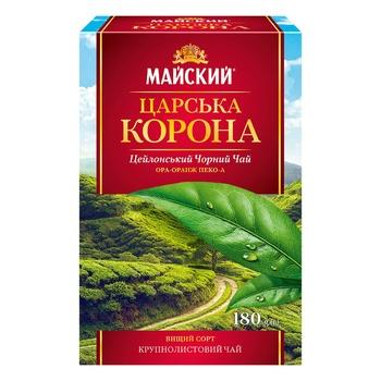 Чай чорний Майский Царська Корона 180г - купити, ціни на Ашан - фото 5