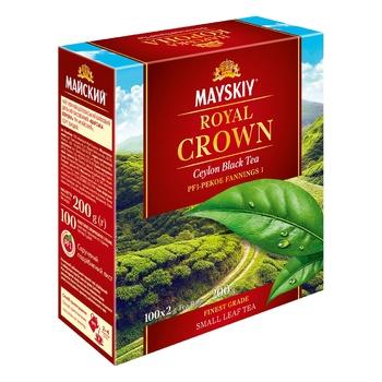 Чай чорний Майский Царська Корона в пакетиках 100шт*2г - купити, ціни на Ашан - фото 5