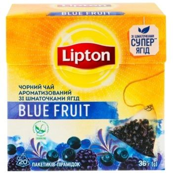 Lipton Blue Fruit Black Tea in Pyramids 20pcs*1,8g - buy, prices for Auchan - photo 4