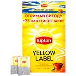 Набор черного чая Lipton Yellow Label 100 пакетиков пакетиков