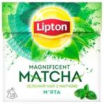 Чай Ліптон Магніфісент Матча зелений з м'ятою 18х1.5г