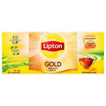 Lipton Gold Black tea 25pcs*2g - buy, prices for CityMarket - photo 3