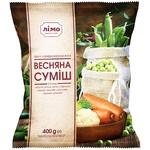 Овочева суміш Лімо Весняна із 5-ти компонентів швидкозаморожена 400г