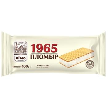 Мороженое Лимо Пломбир 1965 в вафельных листах 100г
