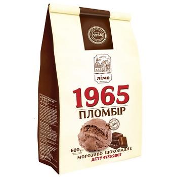 Мороженое Лимо Пломбир 1965 шоколадный 600г
